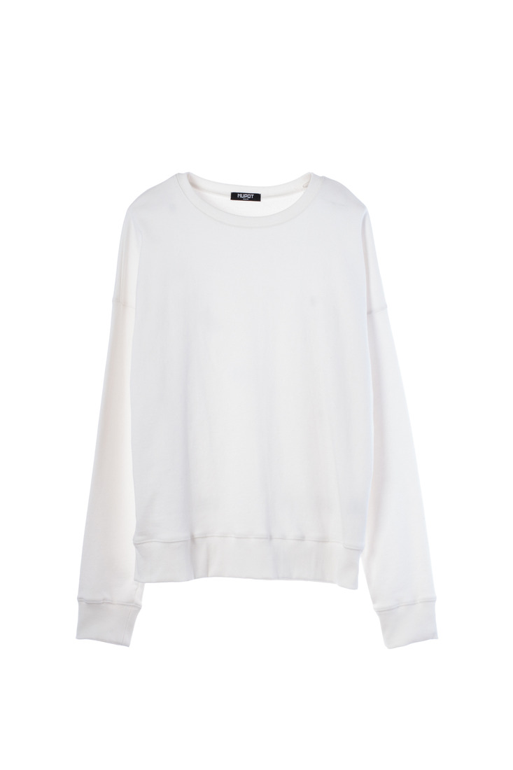 SS17 BIG SHOULDER SWEATER WHITE IVORY