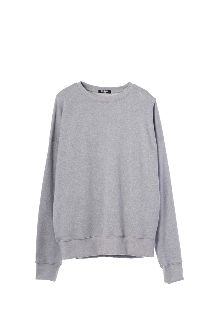 SS17 BIG SHOULDER SWEATER GRAY